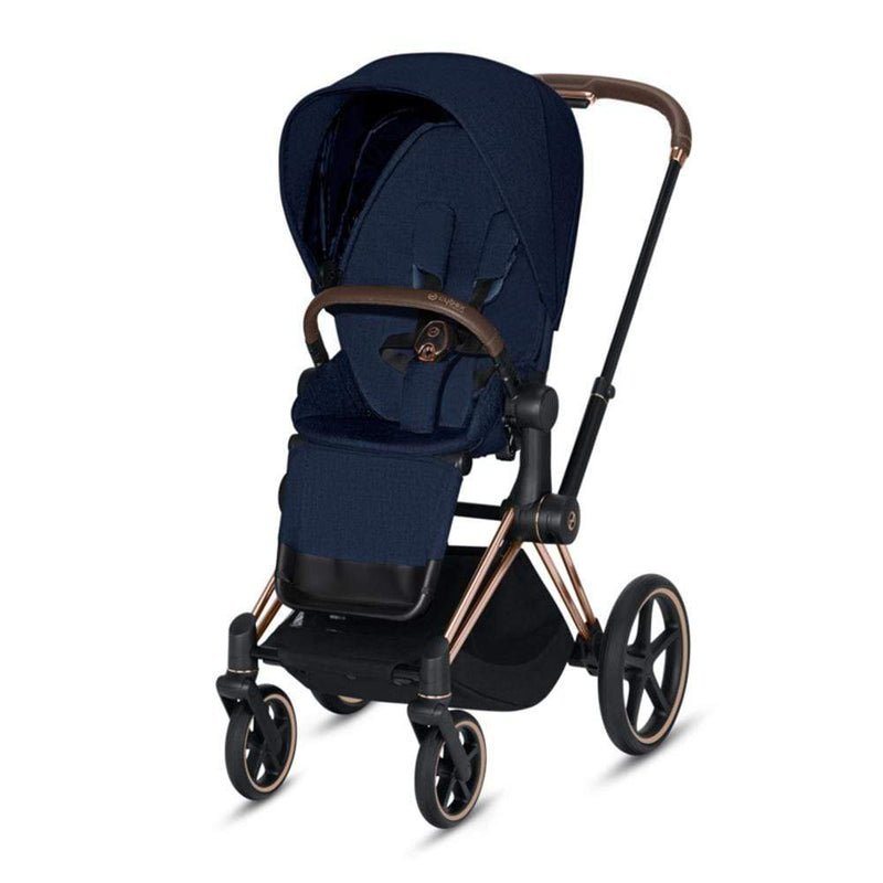 Cybex Priam Pushchair Rose Gold/Midnight Blue Plus Pushchairs & Buggies pb5jm2r 4058511577593