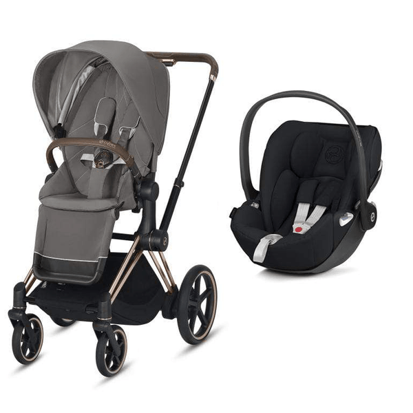 Cybex e-Priam Cloud Z Travel System Rose Gold/Soho Grey 2020 Travel Systems 6340-ROSE-SGRY 4058511597652