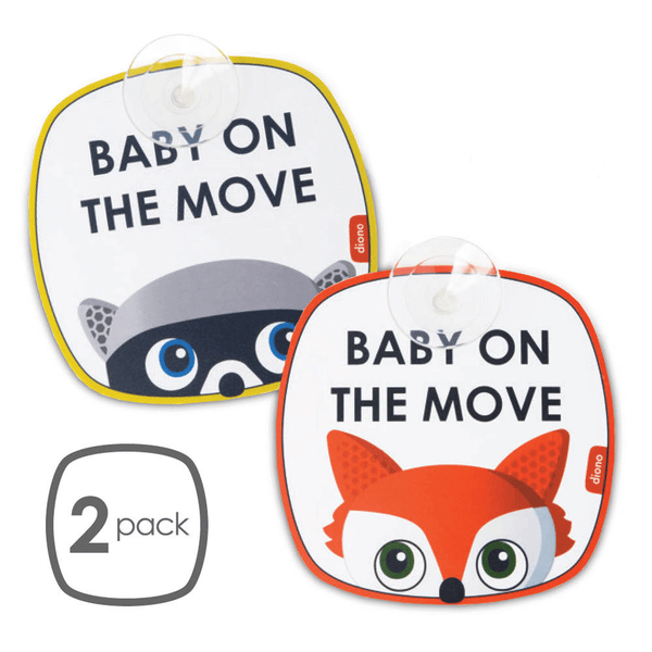 Diono Baby On The Move Signs 2pk In Car Accessories 60565-GL-01 677726605651