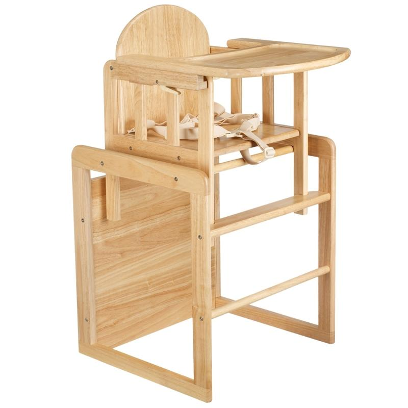 East Coast Combination Wooden Highchair Natural Baby Highchairs 1473B 5021669805114