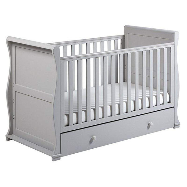 East Coast Alaska Sleigh Cotbed Grey Cot Beds 8551 5021669546505