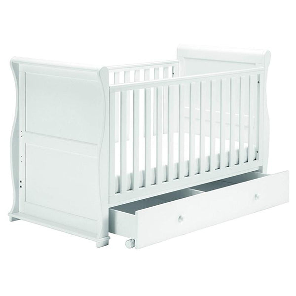 East Coast Alaska Sleigh Cotbed White Cot Beds 5829 5021669813560