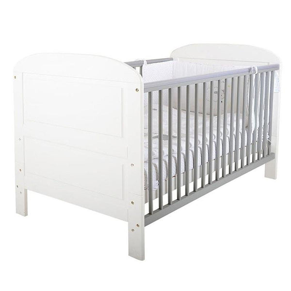East Coast Angelina Cotbed White/Grey Cot Beds 7464 5021669827826