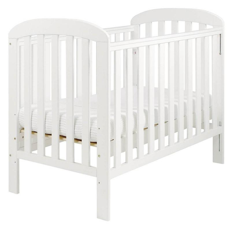 East Coast Anna Dropside Cot White Cots 4366ND 5021669803288