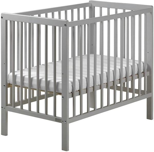 East Coast Carolina Space Saving Cot Grey with Spring Mattress Cots 7841GS 5021669549308