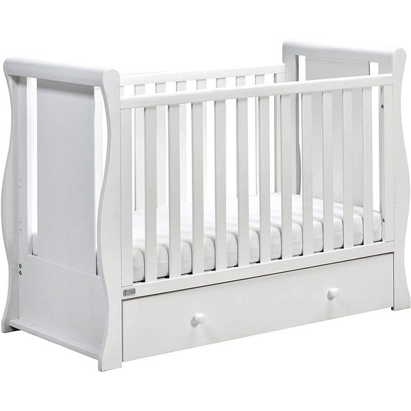East Coast Nebraska Cot2Bed White Cots