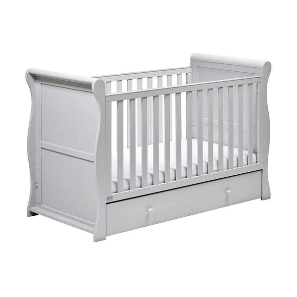 East Coast Nebraska Sleigh CotBed Grey Cots 9028G 5021669548677