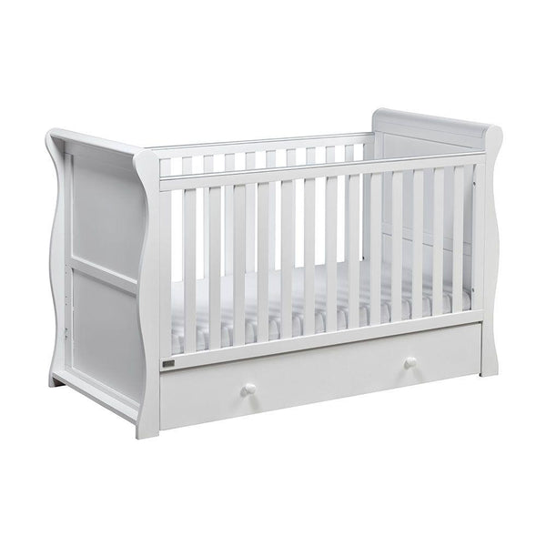 East Coast Nebraska Sleigh CotBed White Cots 9028W 5021669548653