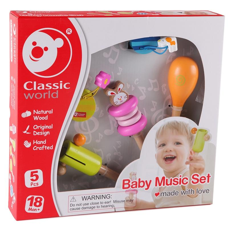 Hippychick Classic World Baby Music Set Activity Toys CW4002 6927049002809