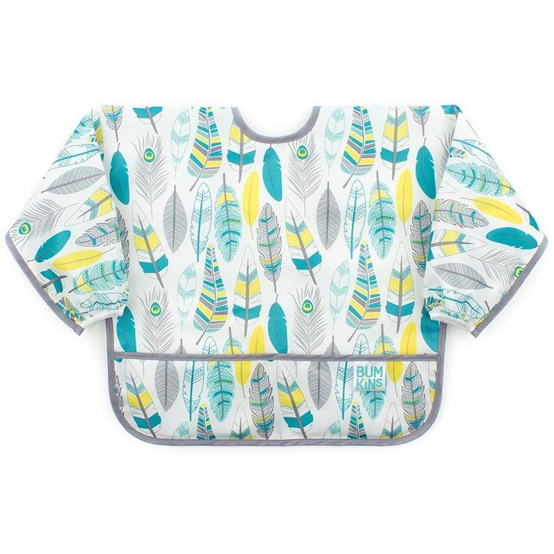 Bumkins Sleeved Bib Feather Baby Bibs BUMKSU104 14292638346