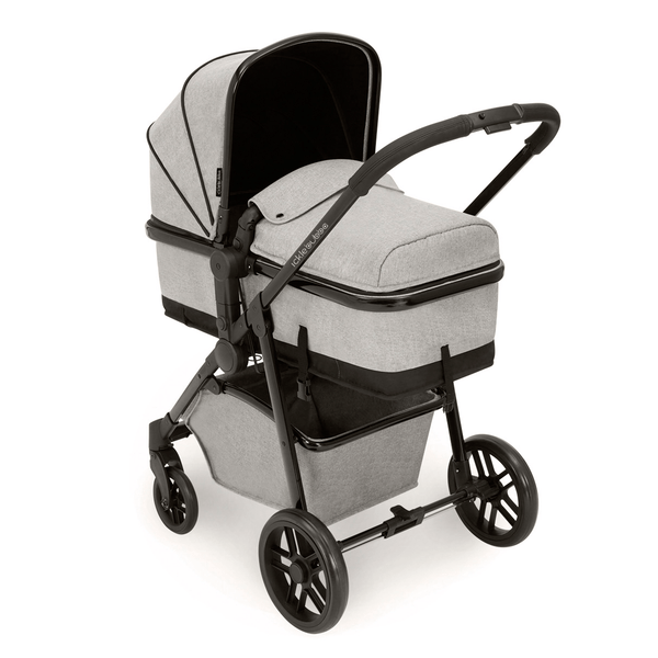Ickle Bubba Moon 2-in-1 Pushchair Black/Silver Grey Baby Prams 10-005-000-012 0709016517921