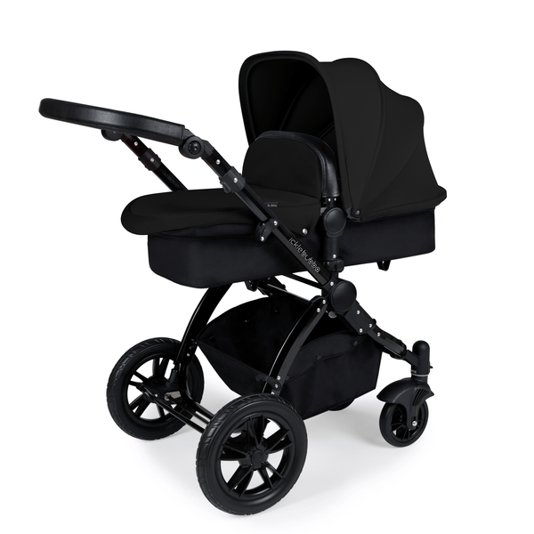 Ickle Bubba Stomp V3 2-in-1 Pushchair Black/Black/Black Baby Prams 10-003-000-002 5060777950538