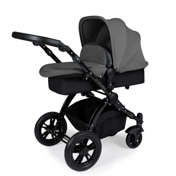 Ickle Bubba Stomp V3 2-in-1 Pushchair Black/Black/Graphite Grey Baby Prams 10-003-000-006 5060777950545