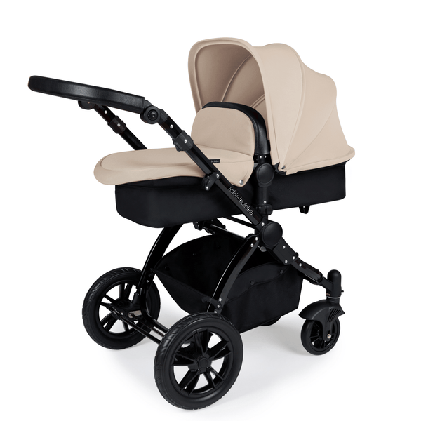 Ickle Bubba Stomp V3 2-in-1 Pushchair Black/Black/Sand Baby Prams 10-003-000-008 5060777950552