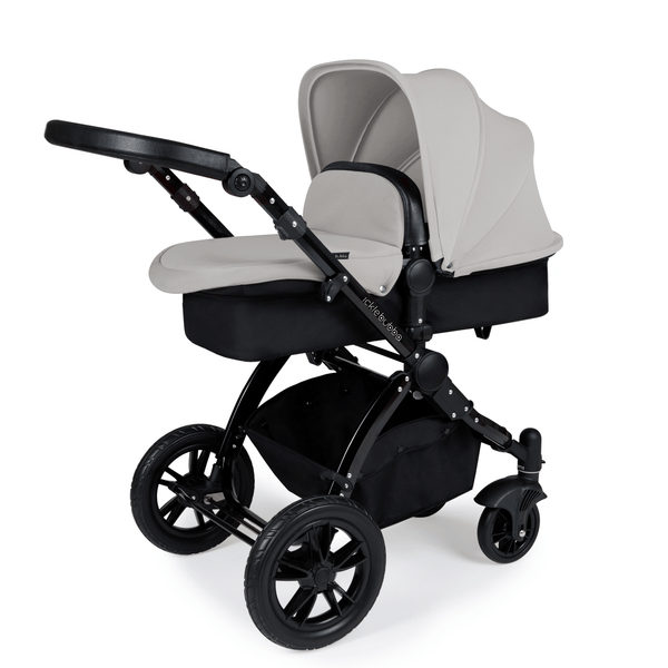 Ickle Bubba Stomp V3 2-in-1 Pushchair Black/Black/Silver Baby Prams 10-003-000-010 5060777950569