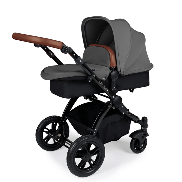 Ickle Bubba Stomp V3 2-in-1 Pushchair Black/Tan/Graphite Grey Baby Prams 10-003-000-007 0709016518379