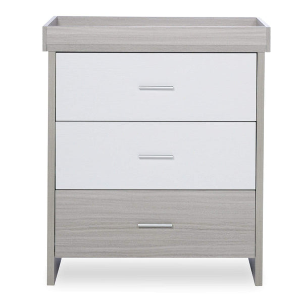Ickle Bubba Pembrey Changing Unit/Chest Ash Grey & White Trend Dressers & Changers 49-006-MBX-834 5060738075737