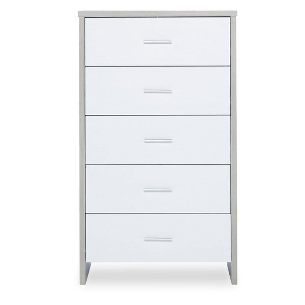 Ickle Bubba Pembrey Tall Chest Ash Grey & White Dressers & Changers 50-006-MBX-833 5060738075751