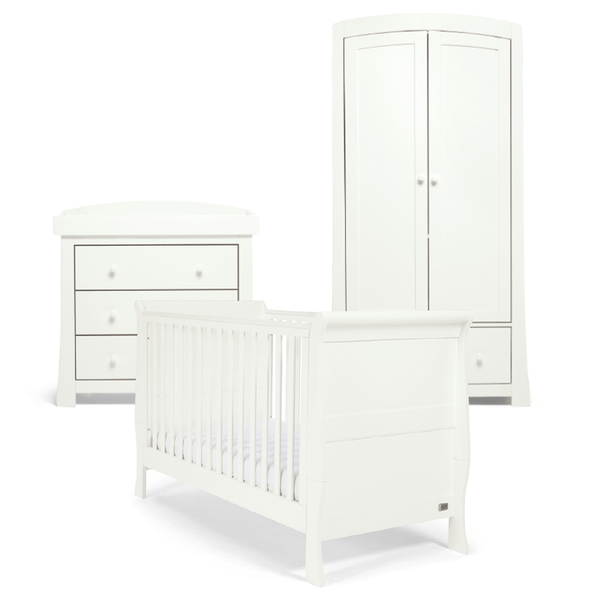Mama & Papas Mia Sleigh 3 Piece Cotbed Range White Nursery Room Sets RAMS02W00 5057232470441