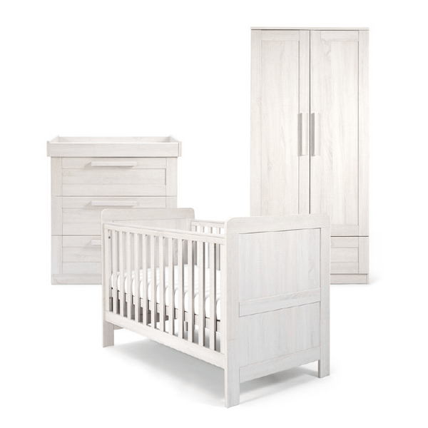 Mamas & Papas Atlas 3 Piece Cotbed Range Nimbus White Nursery Room Sets RAATAY602 5057232331346