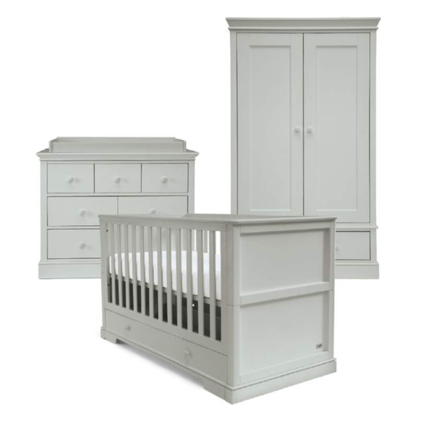 Mamas & Papas Oxford 3 Piece Cotbed Range Cool Grey Nursery Room Sets RAOX05G00 5057232540618