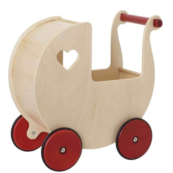 Moover Wooden Dolls Pram Natural Christmas Shop MVPRAMN 5708062788885