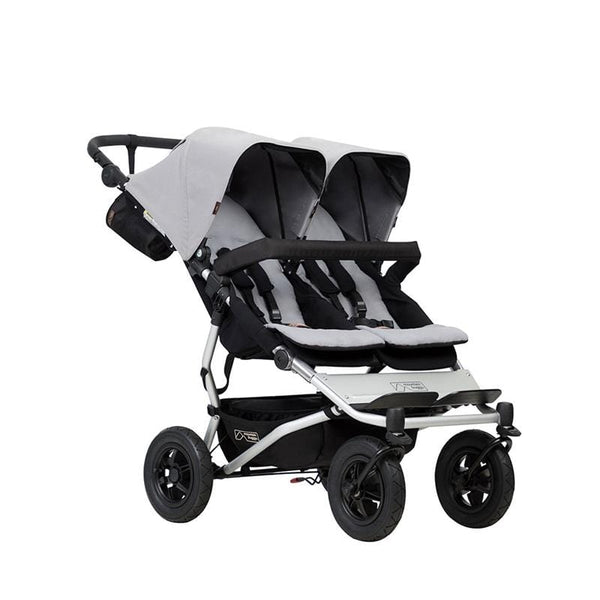 Mountain Buggy Duet V3 Double Pushchair Silver Double & Twin Prams DUET-V3-6 9420015761863