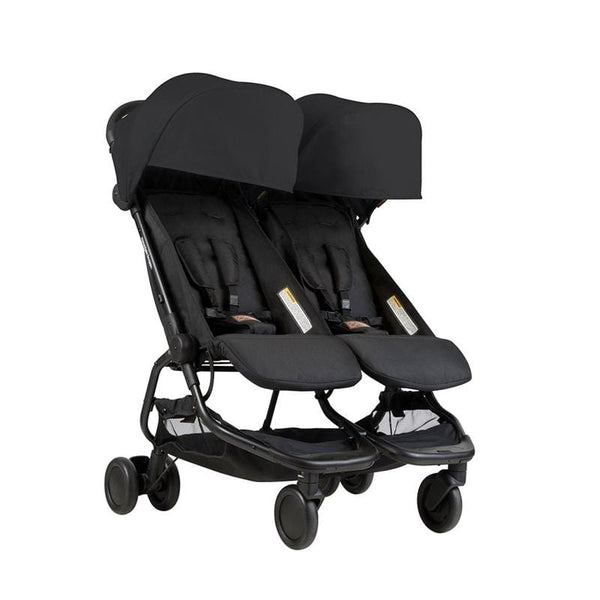 Mountain Buggy Nano Duo Double Stroller Black Double & Twin Prams NANDUO-V1-5 9420015762587