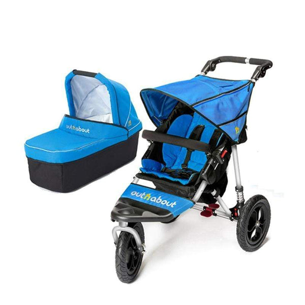 Out n About Nipper V4 With Carrycot Lagoon Blue Baby Prams 9G9TBUX 5060167544637