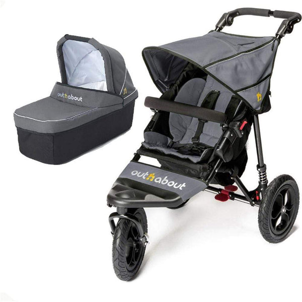 Out n About Nipper V4 With Carrycot Steel Grey Baby Prams 7354A0A 5060167545061