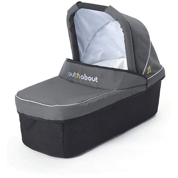 Out n About Nipper Carrycot Steel Grey/Black Chassis & Carrycots CC-01SG 5060167545108
