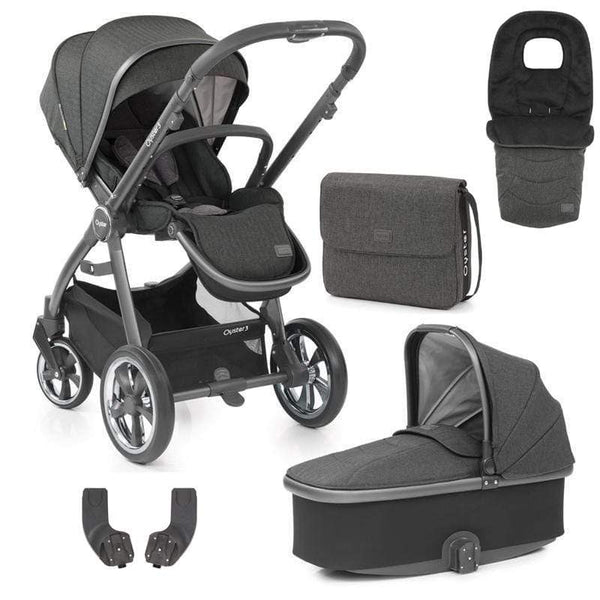 Babystyle Oyster 3 Pram & Pushchair 5 Piece Bundle City Grey/Pepper Baby Prams 6459-GRY-PEP 5060541763425