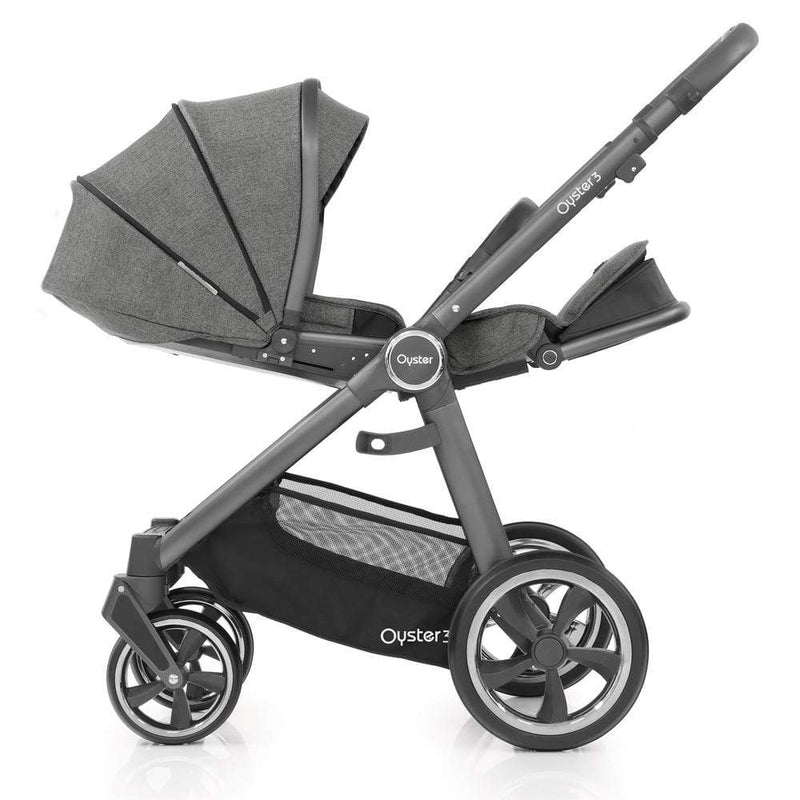 BabyStyle Oyster3 Pram & Carrycot City Grey/Mercury Pushchairs & Buggies 8lppswf 5060541763418