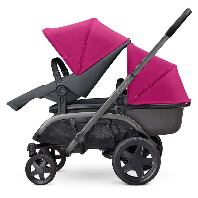 Quinny Hubb Newborn/Toddler Set Pink on Graphite Pushchairs & Buggies o9ega4v 8712930144052