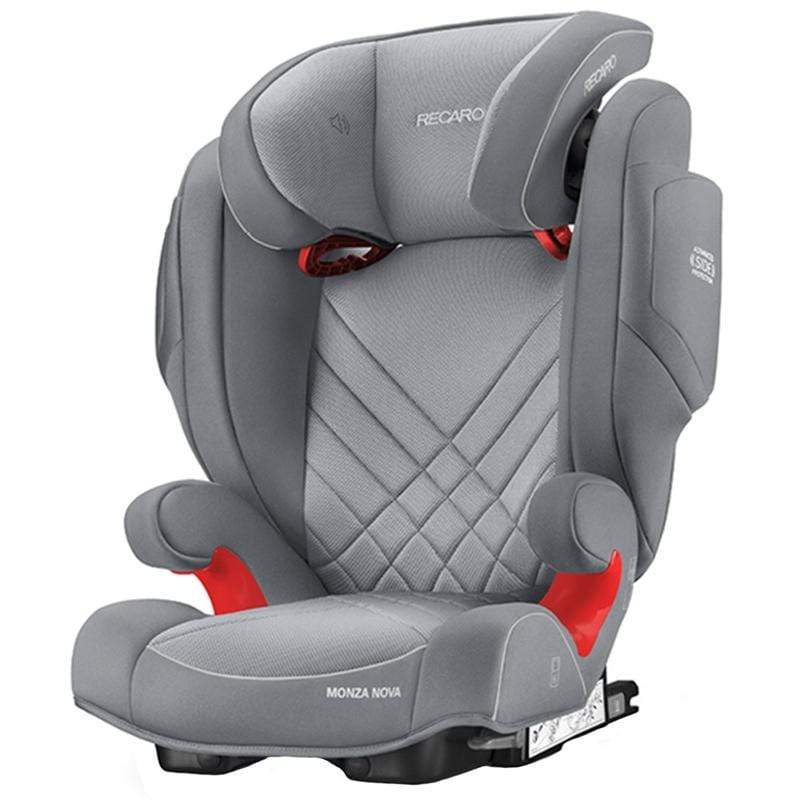Recaro Monza Nova Seatfix 2 Car Seat Aluminium Grey Highback Booster Seats 6151.21503.66 4031953061165