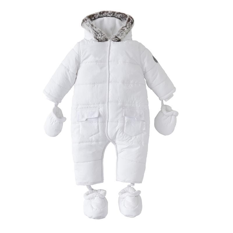 Silver Cross Pramsuit 3-6 Months White Coats & Jackets SX7001.02 5055836913500