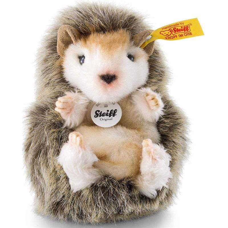 Steiff Joggi Baby Hedgehog 10cm Mottled Brown Soft Animals 70587 4001505070587