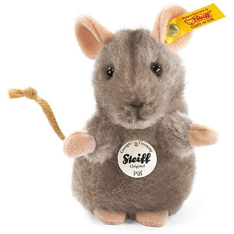 Steiff Piff Mouse 10cm Grey Soft Animals 56222 4001505056222