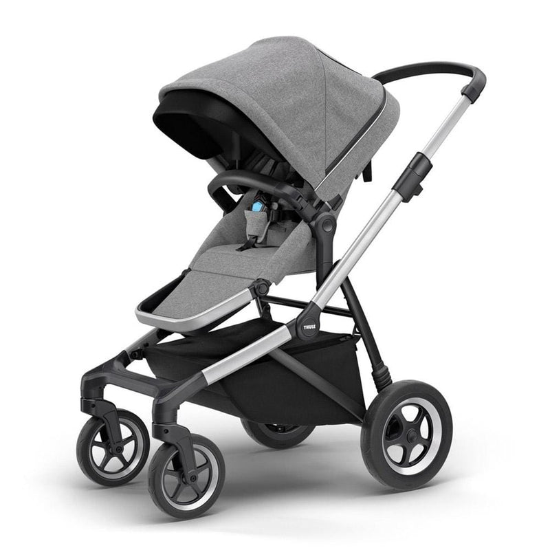 Thule Sleek Pushchair with Bassinet Grey Melange Double & Twin Prams tgm2ags 91021621398
