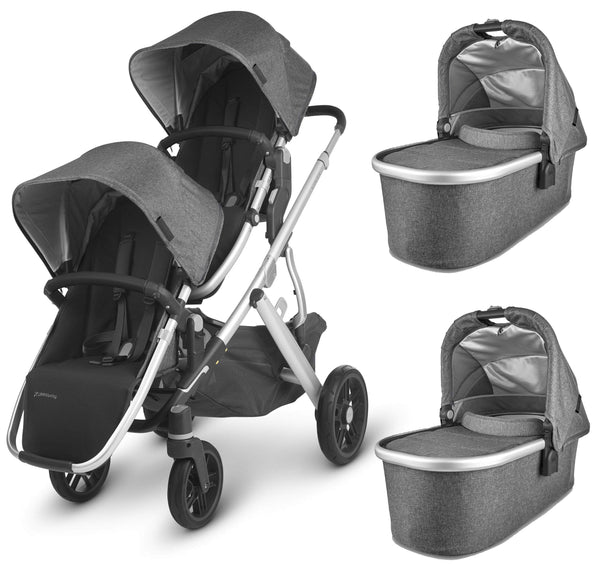 Uppababy Vista V2 Twin Pushchair Jordan Double & Twin Prams 6245-JOR 0850001436816