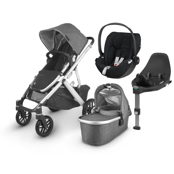 Uppababy Vista V2 Cloud Z & Base Travel System Jordan Travel Systems 6220-JOR 0850001436816