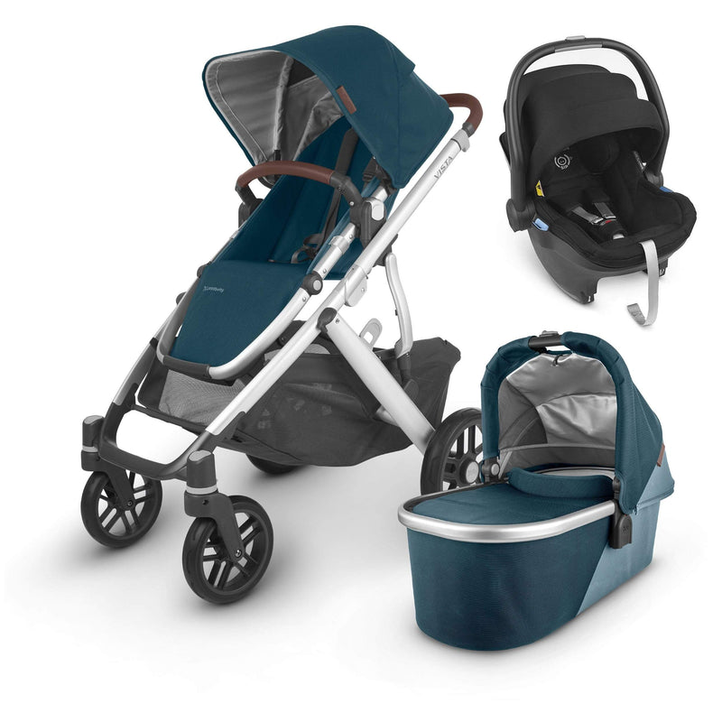 Uppababy Vista V2 Mesa Travel System Finn Travel Systems 6223-FIN 0850001436779