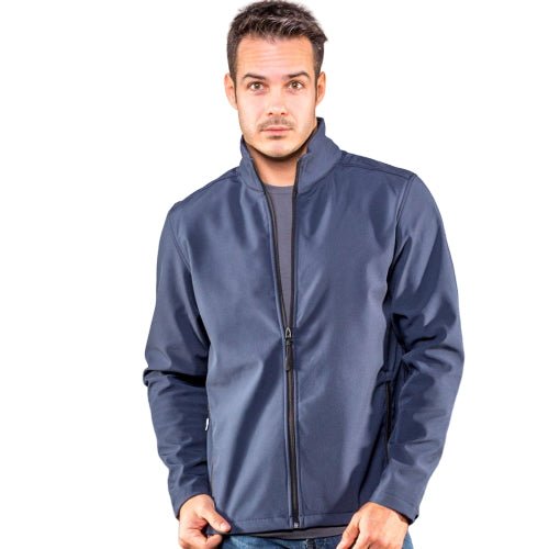 Giacca in softshell. Neutra