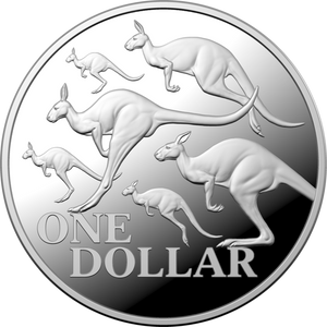 2020 Australian Ram Red Kangaroo 1oz Silver Bullion Coin