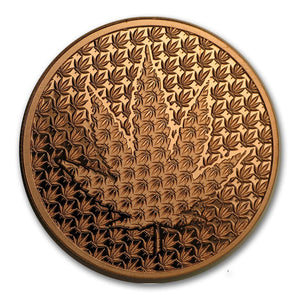 1 oz Copper Round - Cannabis Forever