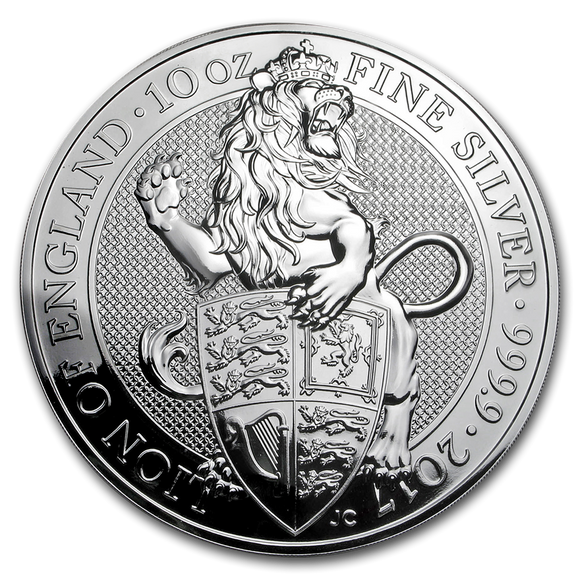 2017 Queens Beasts - Lion of England 10oz Silver Bullion Coin