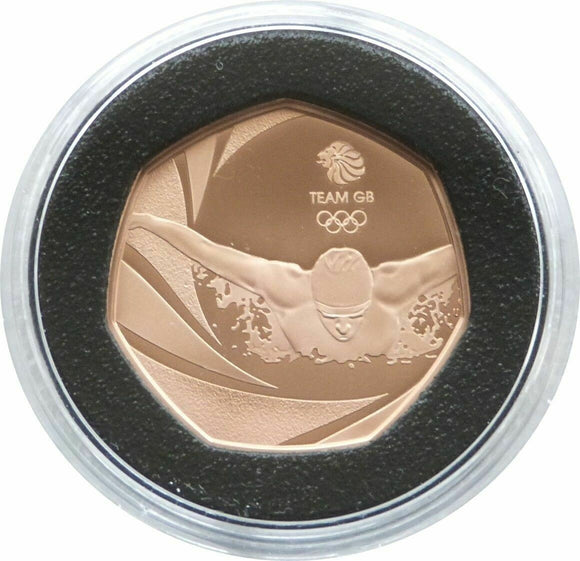 2016 Rio Olympic Games Team GB 50p Gold Proof Coin