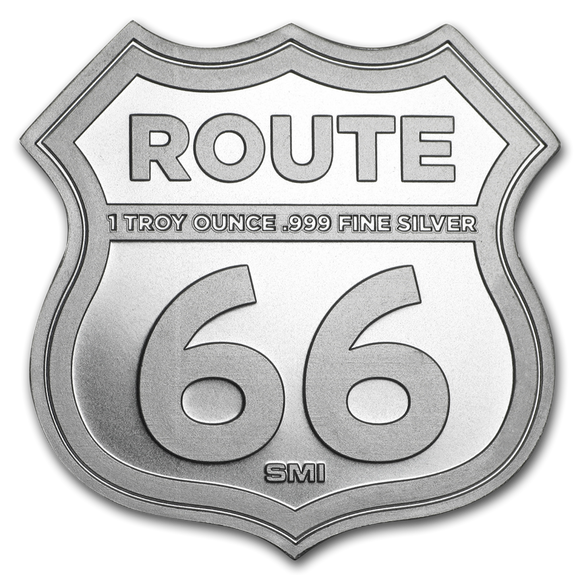 1oz Silver Bar - Route 66