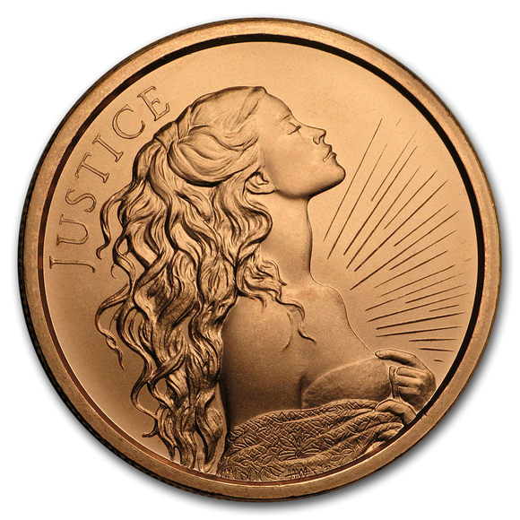 2019 1 oz Copper Shield Round - Lady Justice