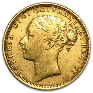 Gold Half Sovereign - Victoria - Young Head (Type 2) - 1871-1887